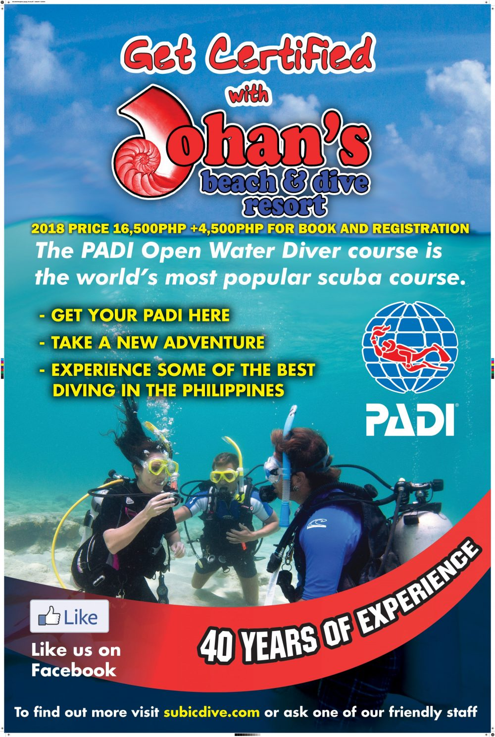 Open Water Diver Johans Beach And Dive Resort Subic Bay Philippines